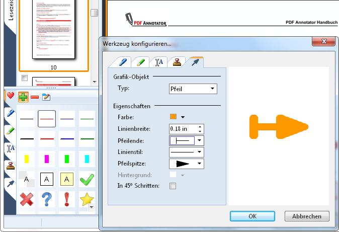 Werkzeug-Konfiguration: Konfigurieren Sie die Werkzeuge in Ihrer Toolbox nach Ihren Wünschen. Erzeugen Sie die Werkzeuge ganz so wie Sie sie benötigen - ohne Einschränkungen.