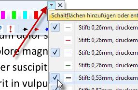 Schaltflächen auf der Favoriten-Symbolleiste hinzufügen oder entfernen