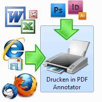 Drucken in PDF Annotator