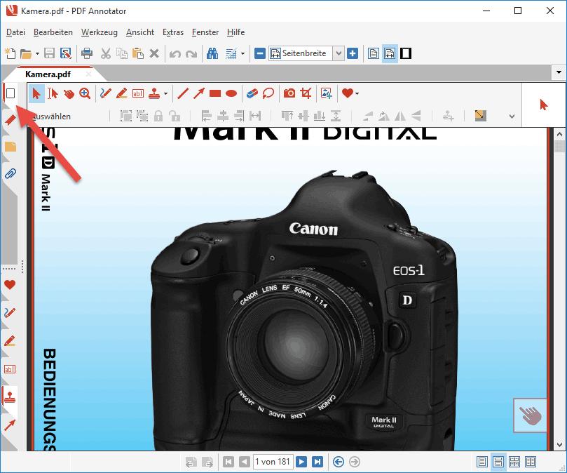 Seiten-Manager in PDF Annotator öffnen