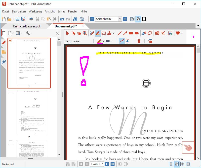 Digitale Kopie des passwortgeschützten PDFs