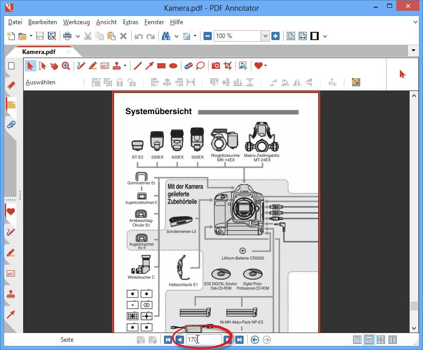 Zu einer bestimmten Seite in einem PDF springen