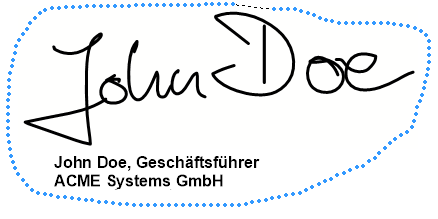 Unterschrift und Textkasten selektieren