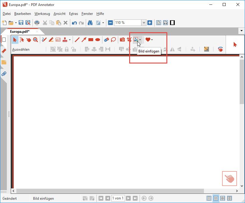Ein Bild in ein PDF-Dokument einfügen