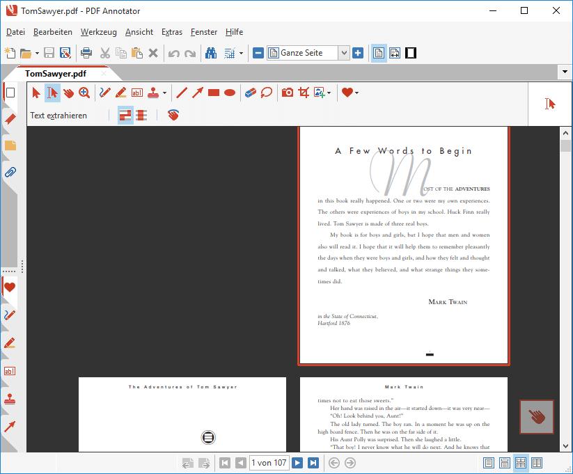 Seiten-Layout: Zwei Seiten mit separater Titelseite
