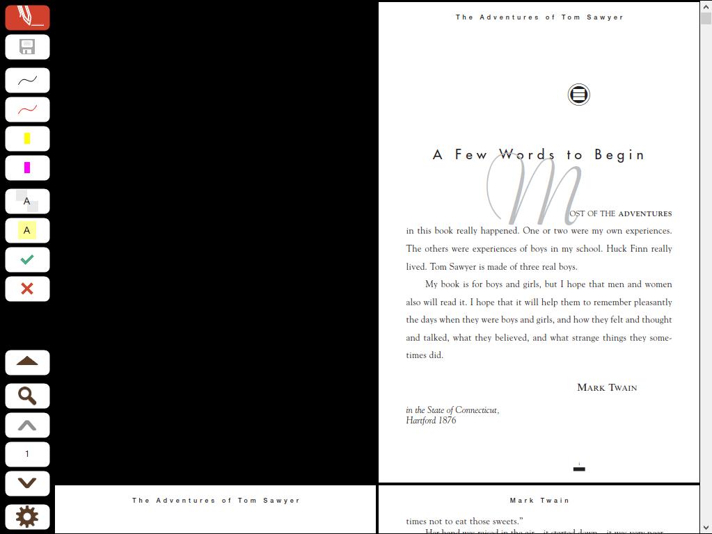 Seiten-Layout im Vollbildmodus: Zwei Seiten - Fortlaufend