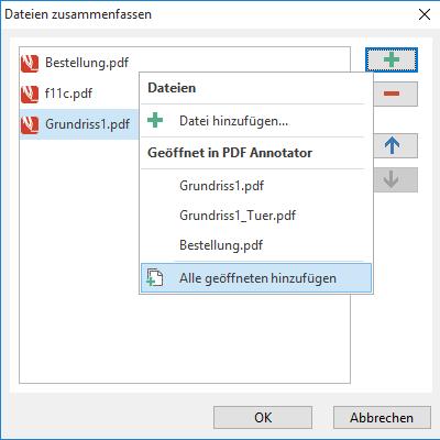 PDF-Dateien zusammenfassen