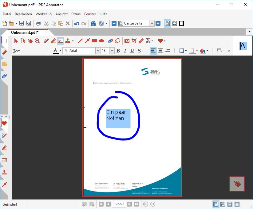 Dokument basierend auf Vorlage