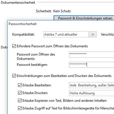 PDF Sicherheit