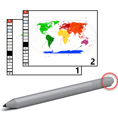 """Stift als """"Clicker"""" für Präsentationen"""