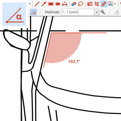 Messfunktion: Winkel