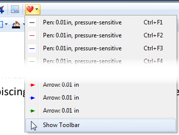 Show Favorites Toolbar