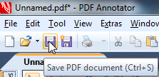 Save new PDF in PDF Annotator