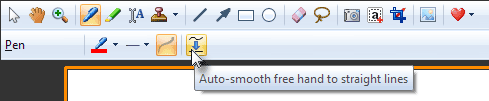 Modify tool properties in the toolbar