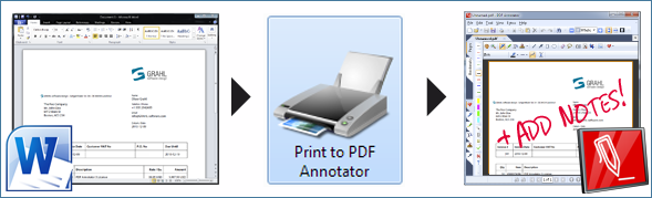 Convert Word to PDF with PDF Annotator's PDF Printer