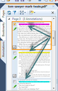 The Annotations Sidebar in PDF Annotator