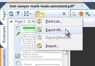 Export Annotations