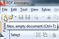 Create a new, empty PDF document