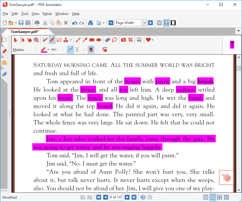 Highlight text in a PDF with Auto-Snap