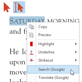 Select Text Actions