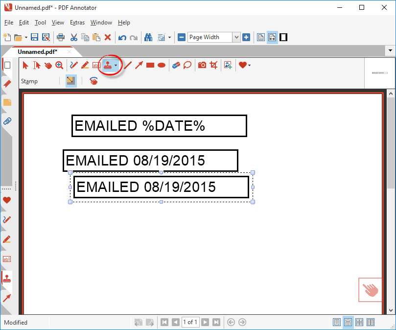 How to create a date stamp pdf annotator trying out the new stamp ccuart Images