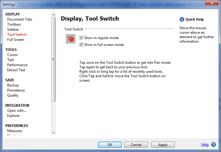 Customize the Tool Switch