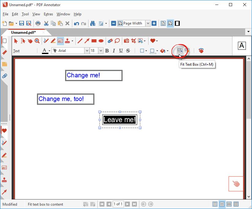 Fit Text Box