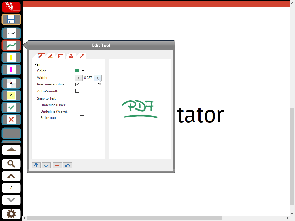 Customize a Pen Tool Button