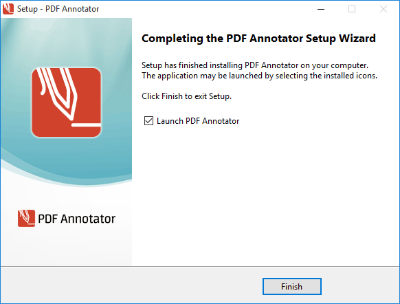 PDF Annotator Setup finished