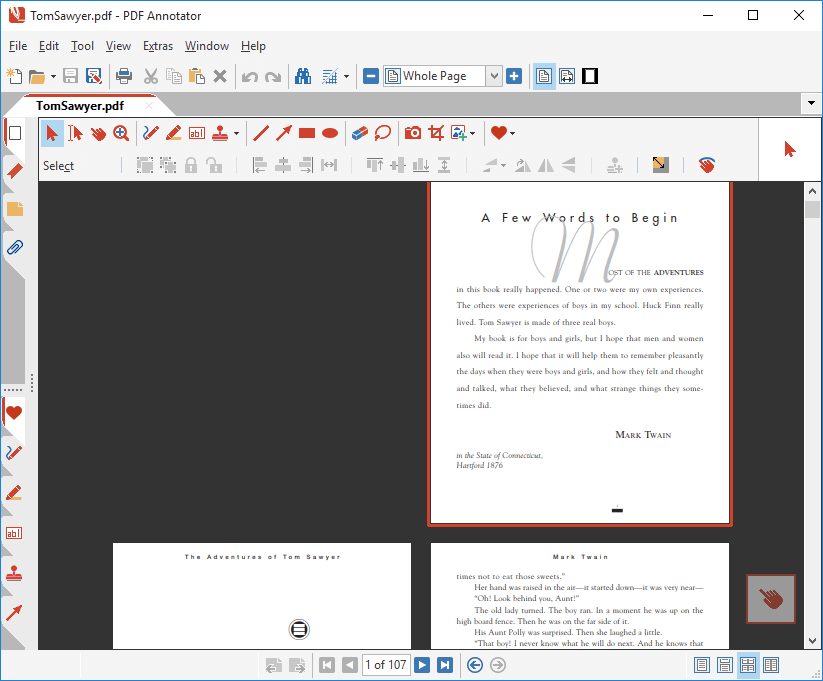 Page Layout: Two Pages with Separate Cover Page
