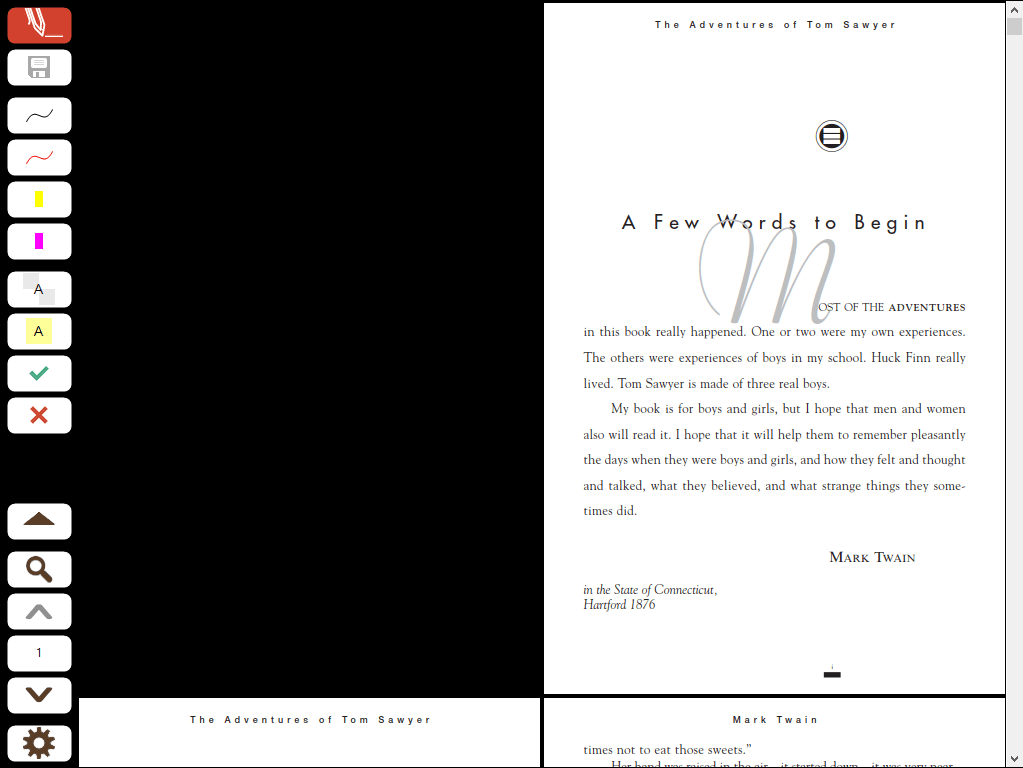 Page Layout in Full Screen Mode: Two Pages - Continuous