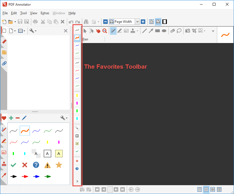 Favorites Toolbar