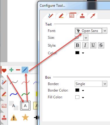Change predefined tool properties