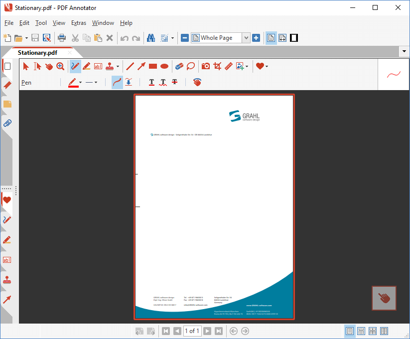 Open template file in PDF Annotator