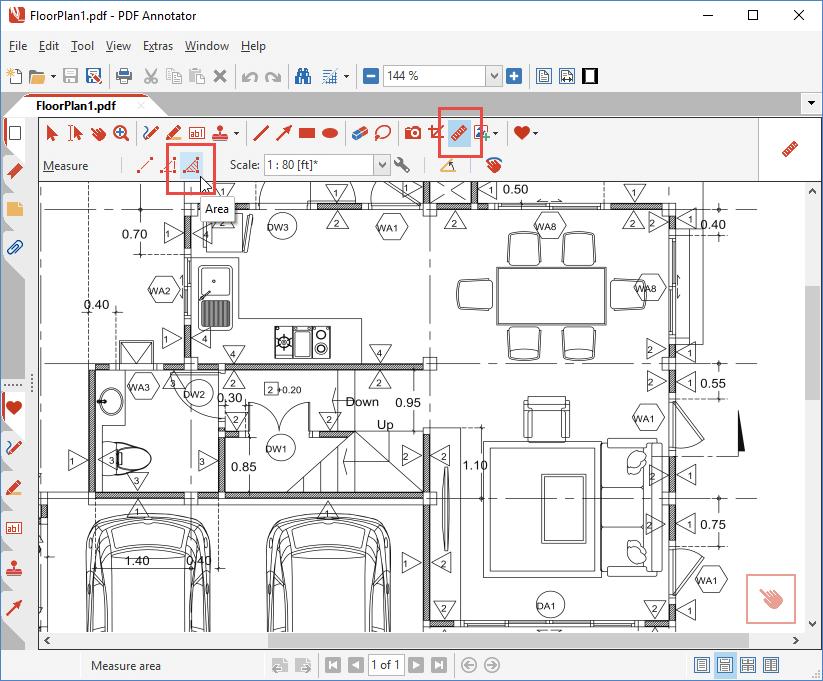 Area measure tool