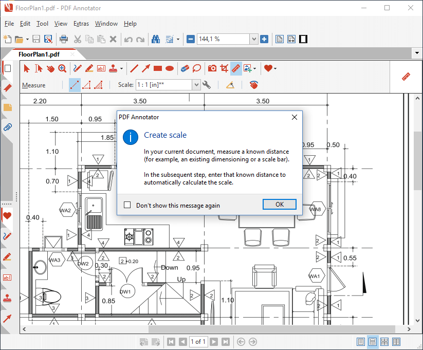 Measure on document