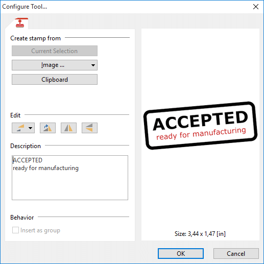 how to add new stamp to pdf database