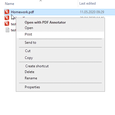 """Print"" Command on Explorer Menus"