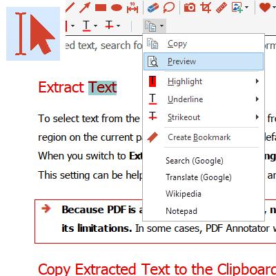Extraire texte