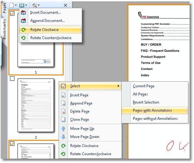 Gestion des pages: Ajoutez des pages, copiez, supprimez ou déplacez des pages ou rassemblez plusieurs documents afin d'en créer un nouveau.