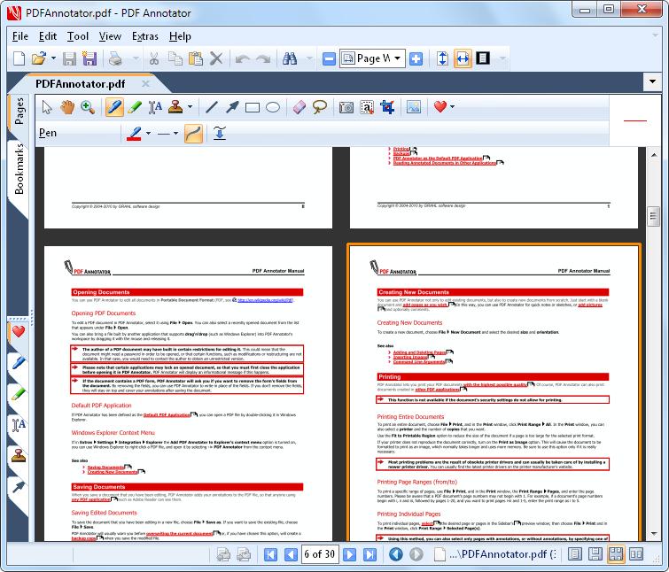 Mise en page: Choisissez entre une mise en page sur un ou deux côtés pour l'affichage d'une page entière, ou bien un affichage continu de toutes les pages.