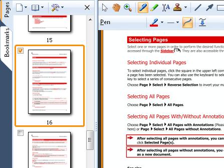 Aperçu: Obtenez un aperçu rapide des documents à l'aide de l'aperçu dépliant, qui permet également une sélection multiple pour toutes les fonctions de la page.
