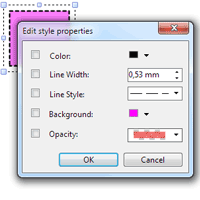 Modifier les propriétés de style