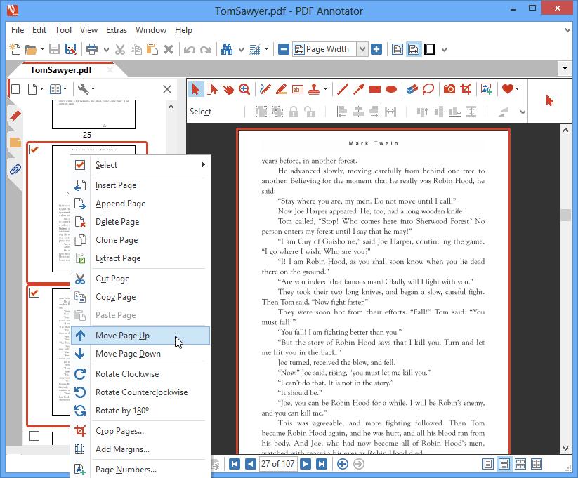 Déplacer des pages: Réordonnez les pages en fonction de vos besoins en les déplaçant vers le haut ou le bas ou en utilisant l'outil glisser-déposer dans le gestionnaire des pages.