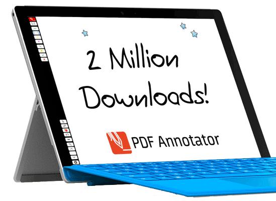 We're celebrating 2,000,000 PDF Annotator Downloads!